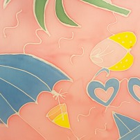 peinture sur soie sokina la recolte estival