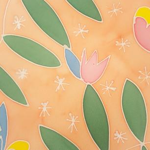 zomm grand foulard peinture sur soie sokina la recolte