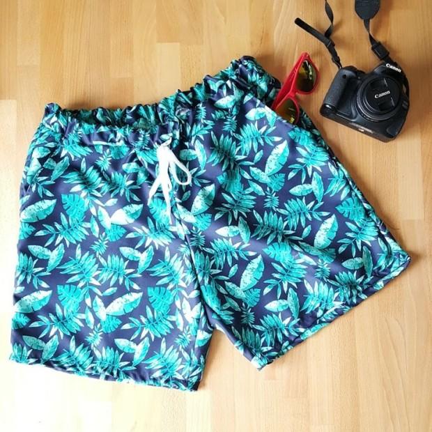 couture maillot short de bain homme plage tropical feuillage jungle.jpg